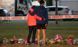 Tributes near the one of two mosques in Christchurch, New Zealand, that were subjected to a right-wing terror attack.