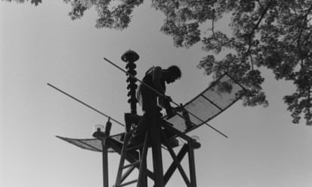 Shepherd built transmitters and receivers with salvaged materials.