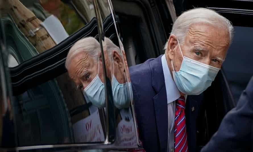 Joe Biden in Wilmington, Delaware, on 19 October.