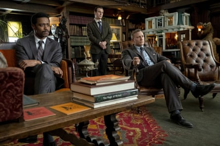Lakeith Stanfield, Noah Segan and Daniel Craig in Knives Out