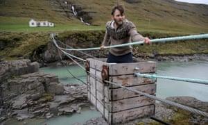 Denni Karlsson using his cableway