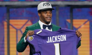 Lamar Jackson is headed to Baltimore after the Ravens traded up to pick the Heisman Trophy winner