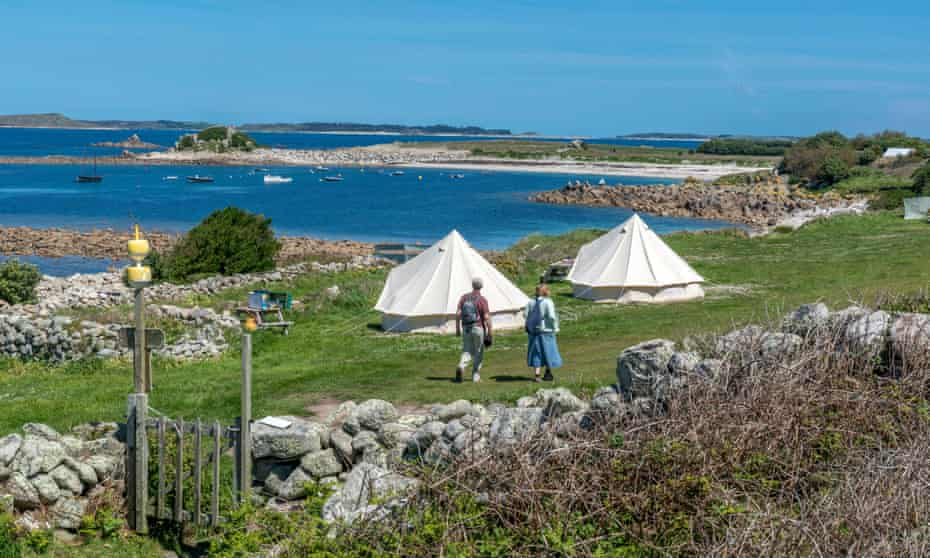 Wild south-west … the beautiful Troytown campsite on St Agnes, Isles of Scilly.