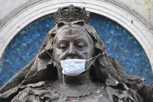 Manchester, England. A statue of Queen Victoria