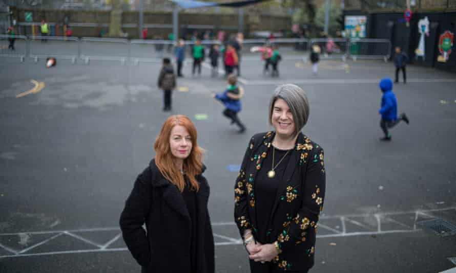 Family officer Fiona Carrick Davies (left) and Nicola Noble in the playground