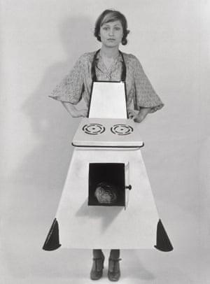 Feminist Avant Garde exhibition Housewives' Kitchen Apron by Birgit Jürgenssen.