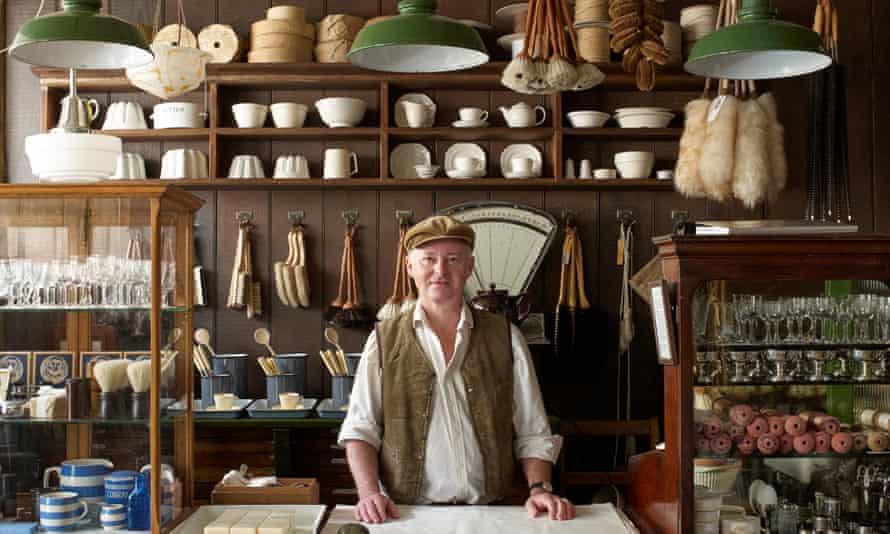 Photographer Alastair Hendy in his restored Georgian shop.