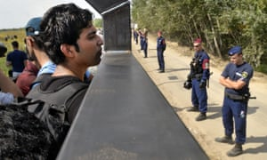 Serbia border fence