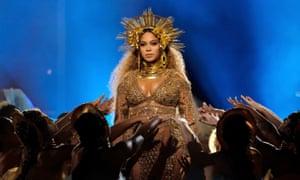 Beyoncé at the Grammys.