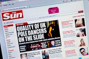 The Sun's website (pictured here in 2012) has failed to keep pace with the MailOnline site.