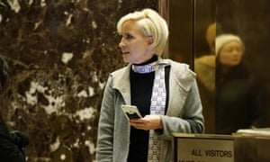Mika Brzezinski in the lobby at Trump Tower, in November after the election.