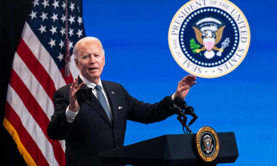 Biden said: I think we may be able to get that to … 1.5 million a day, rather than 1 million a day – but we have to meet that goal of a million a day.'