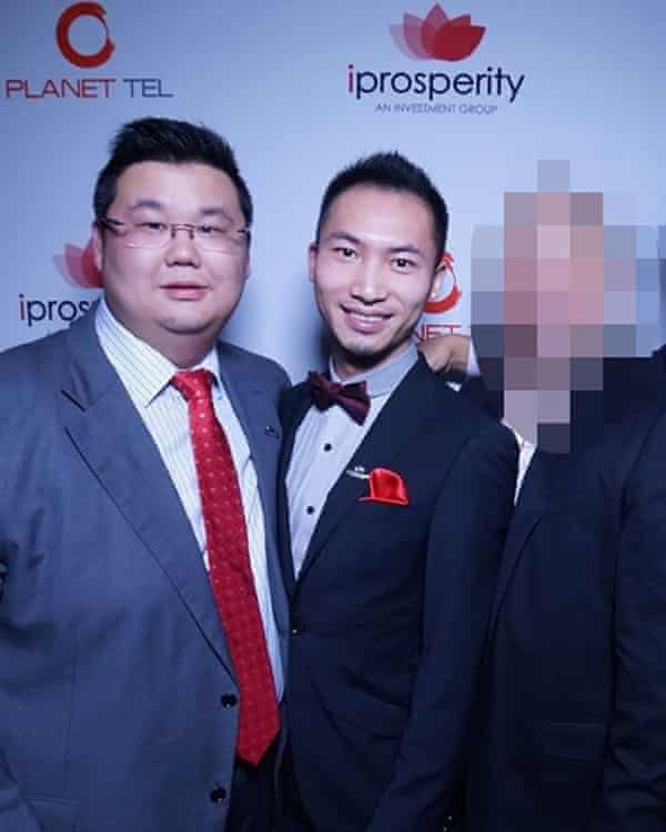 Harry Zhou Xiang Huang (right) with the founder of the iProsperity group Michael Gu.