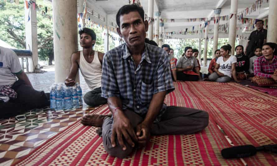 Seuy San, 40, a construction worker who was enslaved on a Thai fishing boat