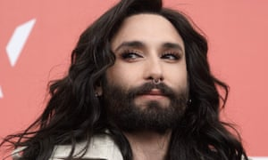 Conchita Wurst attends a press conference at the Wiener Festwochen 2017 cultural festival on 9 May 2017.
