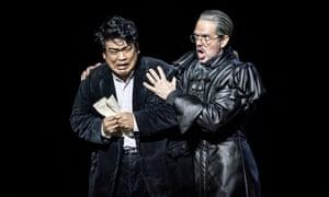 Jung Soo Yun as Henri and Giorgio Caoduro as Guy de Montfort in Les Vêpres Siciliennes