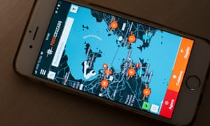 The mobile app Fogo Cruzado (Crossfire) keeps users informed of shootings and street violence across the city.