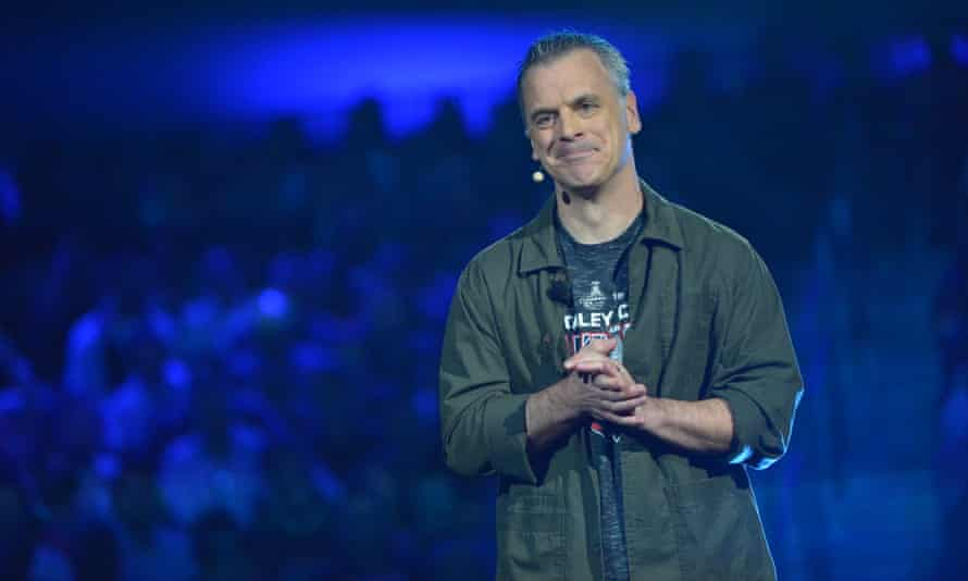 Pete Hines speaks at Bethesda Softworks' E3 Showcase in LA