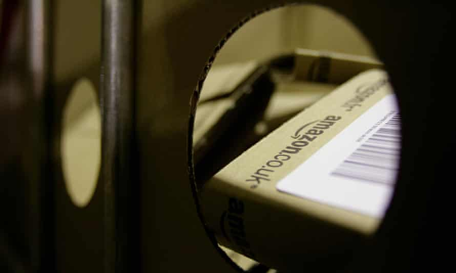 Just one of the parcels Amazon's hard-pressed drivers must handle.