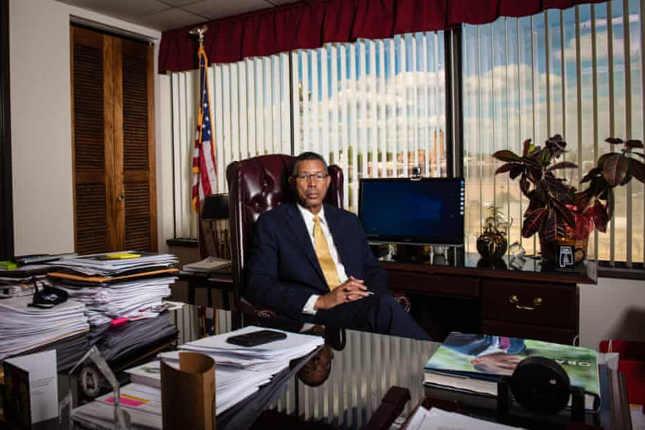 Tuskegee's Mayor Lawrence F. Haygood, Jr. sits in his office located inside the Tuskegee Municipal Complex in Tuskegee, Alabama on Thursday, May 20, 2021.