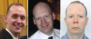 Joe Ritchie-Bennett, James Fulong and David Wails, the three victims of the Reading attack.