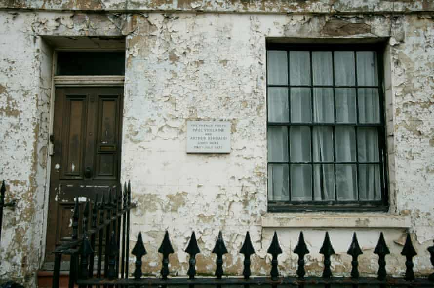 The pair shared a house in London, pictured, before Verlaine fled to Brussels to get away from Rimbaud.