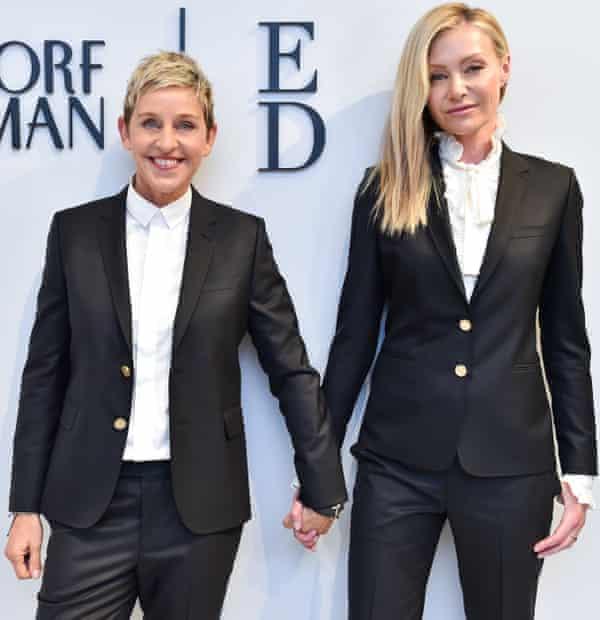 Comedian Ellen DeGeneres, left, married actor Portia de Rossi in 2008.