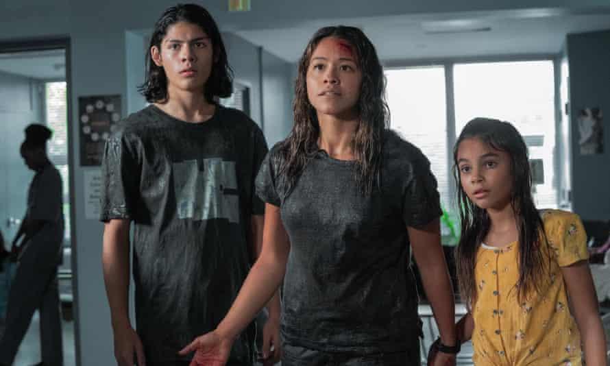Lucius Hoyos, Gina Rodriguez and Ariana Greenblatt