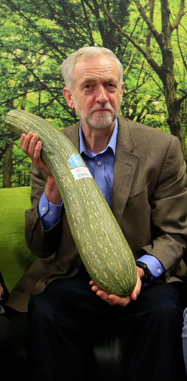 Jeremy Corbyn: I know I'll get told off for this marrow photo op.