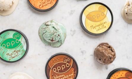 Oppo's range of 'healthy' ice-cream.