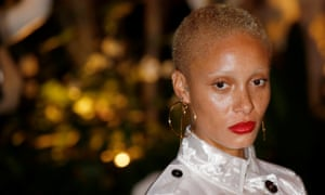 Model Adwoa Aboah arrives for the Burberry show at LFW.