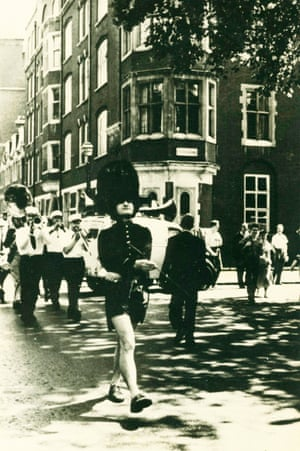Litvinoff leading a parade through London in 1955.
