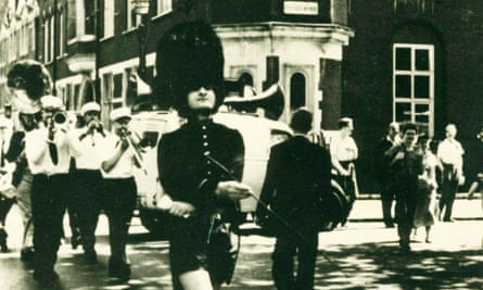 At the inaugural Soho fair in 1955, Litvinoff appeared in the carnival parade dressed in skimpy shorts and a bearskin hat