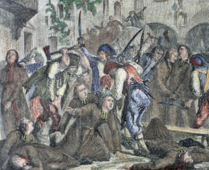 Sans-culottes during the French Revolution