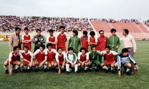 The Algerian team selected for the 1982 World Cup, including Lakhdar Belloumi (front row, fifth left).