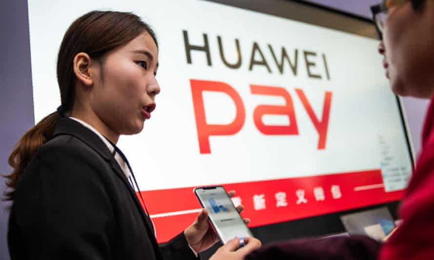 The new Huawei smartphone pay service launched in Beijing