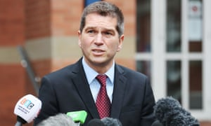 Merlin Attractions' chief executive Nick Varney speaks to the media at Stafford crown court.