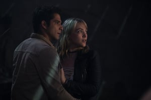 Tyler Posey and Violett Beane in Truth or Dare.