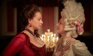 Fantastically over-the-top … Samantha Morton and Lesley Manville as Margaret Wells and Lydia Quigley.