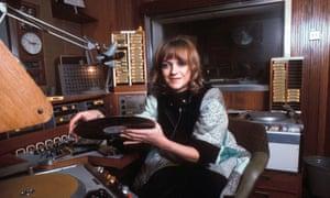 Annie Nightingale in the studio, 1976.