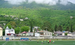 The Daur Akhvlediani Stadium, Gagra.