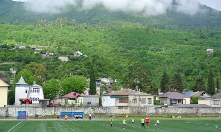 The Daur Akhvlediani Stadium, Gagra.