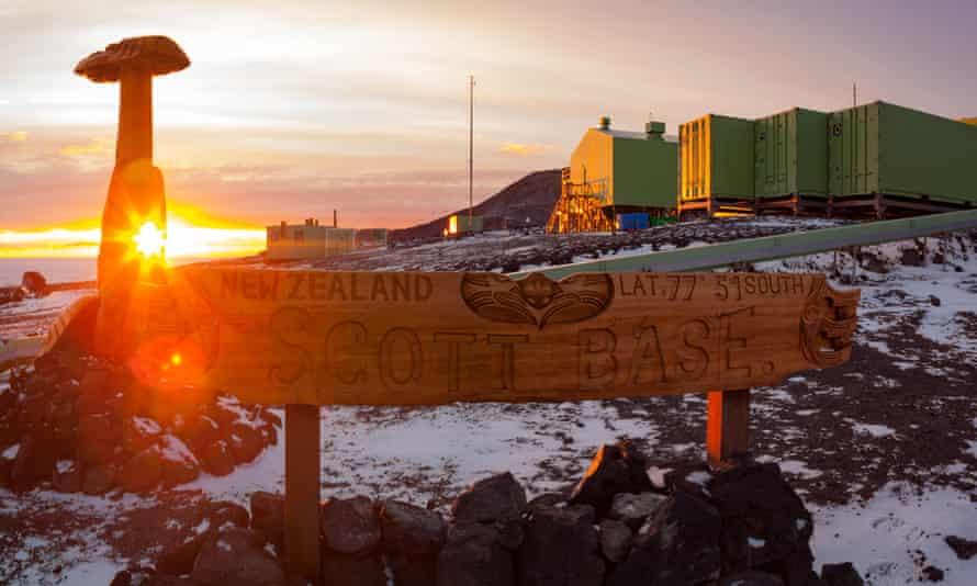 New Zealand's Scott Base sign in Antarctica