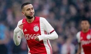 Hakim Ziyech was one of Ajax's standout players as the team reached the 2018-19 Champions League semi-finals.