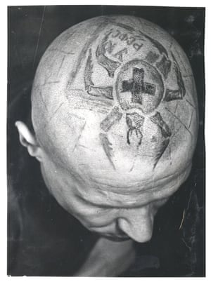tattoo on man's bald head