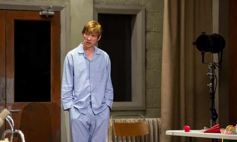 Resigned to a life in pyjamas … Domhnall Gleeson in Enda Walsh's Medicine at the Traverse, Edinburgh.