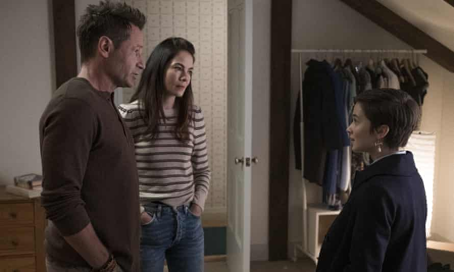 David Duchovny, Michelle Monaghan and Cailee Spaeny in The Craft: Legacy