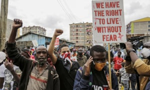 Protest against police brutality in Nairobi