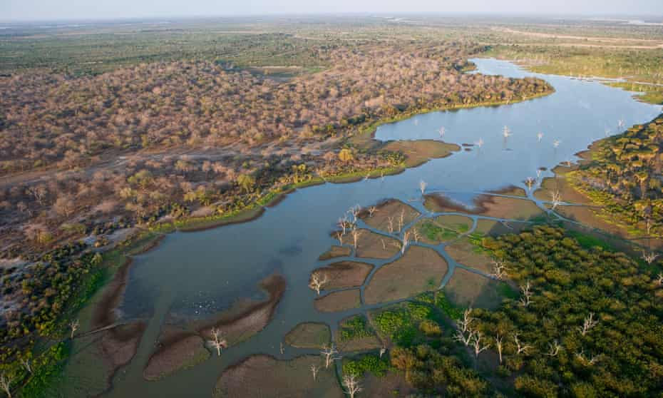 the Rufiji river in the Selous game reserve