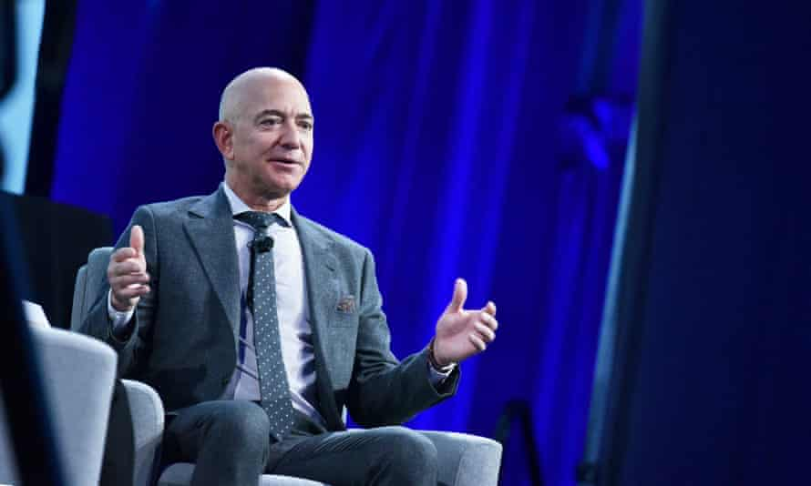 Jeff Bezos, CEO of Amazon, whose Whole Foods subsidiary cut medical benefits for all its part-time workers.